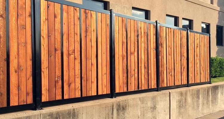 ⭐Planning to build a wood fence with metal